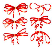Red holiday bow Royalty Free Stock Photo