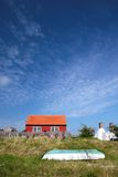 Red holiday cottage on Bornholm, Denmark Royalty Free Stock Image