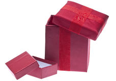 Red Holiday Gift Boxes Royalty Free Stock Images