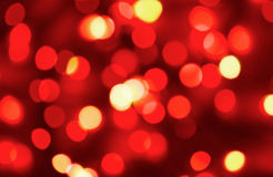 Red holiday lights Stock Photos