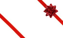 Red holiday ribbon bow Stock Photography