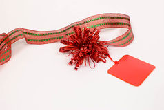 Red Holiday Tag Stock Photos
