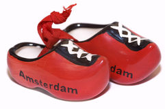 Red holland shoes Royalty Free Stock Photo