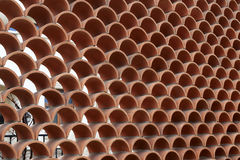 Red hollow wall Royalty Free Stock Images