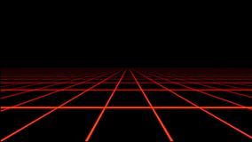 Red Holographic Tron Grid Floor Motion Element stock video