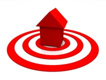 Red home icon Royalty Free Stock Images