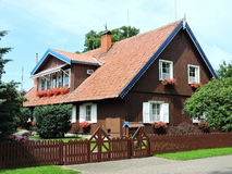 Red home, Lithuania Royalty Free Stock Photos