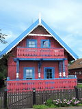 Red home, Lithuania Stock Photo