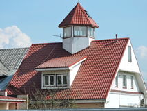 Red home roof Stock Photos