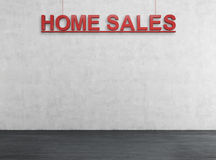 Red home sales text Stock Photos