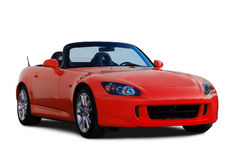 Red Honda S2000 Convertible. A photograph of a japanese S2000 sports car isolated on white. Clipping path on vehicle. See my portfolio for more automotive images royalty free stock images