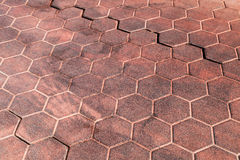 Red honeycomb cobblestone pattern, texture Stock Photo