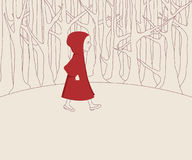 Red Hood Illustration. Little Red Riding Hood illustration Royalty Free Stock Photography