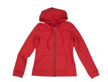 Red hoodie. Isolate on white royalty free stock image
