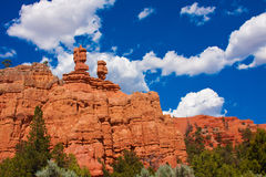 Red Hoodoos in  Bryce Canyon National Park,Utah,USA. Red Hoodoos in  Bryce Canyon National Park,Utah,United States Royalty Free Stock Image