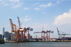 Red Hook Container Terminal in Brooklyn Royalty Free Stock Image