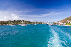 Red Hook harbor on St Thomas Royalty Free Stock Images