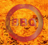 Red Hor BBQ Brand Royalty Free Stock Image