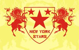Red horse. Consisting of a red horse and stars of sport t-shirt graphic design vector illustration