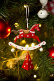 Red horse Christmas decorations. Horse, the symbol of the 2014 Royalty Free Stock Images