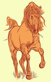Red horse. The red horse, is executed in program stock illustration