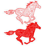 Red horses Royalty Free Stock Image