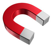 Red horseshoe magnet Stock Photos