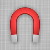Red horseshoe magnet Royalty Free Stock Images