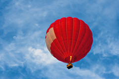 Red hot air balloon. In sky Royalty Free Stock Images