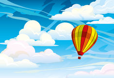 Red hot air balloon Royalty Free Stock Photo