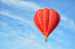 Red Hot Air Balloon. In the air Royalty Free Stock Photos