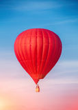 Red Hot Air Balloon. In colorful sky Stock Photography