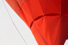 Red hot air balloon fabric. Part of red hot air balloon fabric picture Royalty Free Stock Images