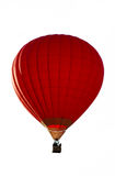 A red hot-air balloon isolated. On the white Royalty Free Stock Photography