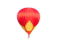 Red hot air balloon. Isolated on white background Royalty Free Stock Photos