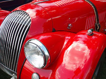 Red Hot Auto. This is a vintage vehicle Royalty Free Stock Photography