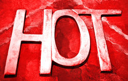 Red hot background Stock Photos