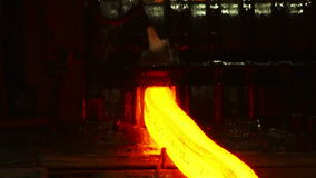 Red-hot billet cooled water stock footage