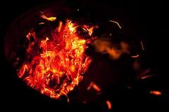 Red hot burning embers Stock Photos