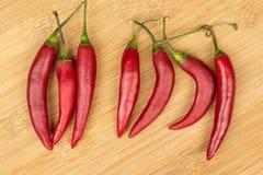 Free Red Hot Cayenne Chili On Light Wood Royalty Free Stock Photo - 161477535