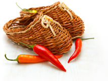 Red hot cayenne pepper vegetable fruits Royalty Free Stock Photo