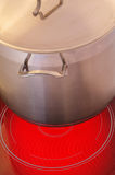 Red hot ceramic hotplate  cooker Stock Photography