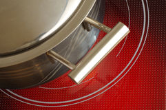 Red hot ceramic hotplate  cooker 2 Stock Photography