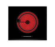 Red hot ceramic hotplate of electric cooker Royalty Free Stock Photography
