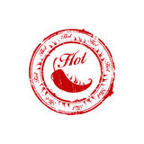 Red hot chili burn stamp Royalty Free Stock Photos