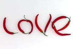 Red Hot Chili Love Stock Images