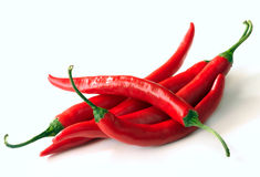 Red hot chili pepper. On a white background Royalty Free Stock Image