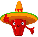 Red Hot Chili Pepper Character Royalty Free Stock Photos