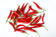Red and hot, chili pepper Stock Images