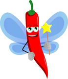 Red hot chili pepper fairy Stock Images